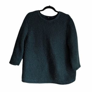 Tibi Green Knit Pullover Sweater